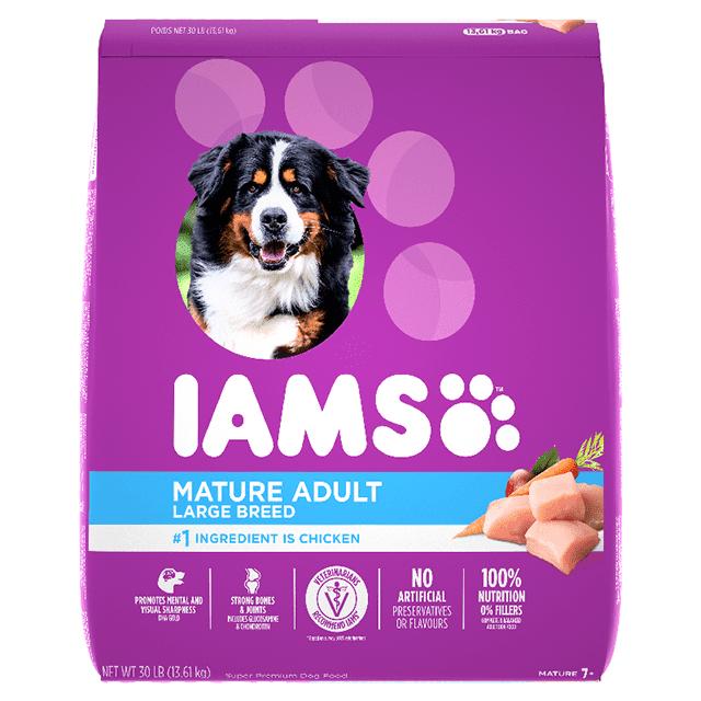 Nourriture sèche pour chiens âgés Recette avec poulet et grains entiers