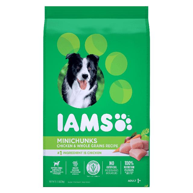 Nourriture sèche pour chiens adultes Minichunks Recette avec poulet et grains entiers