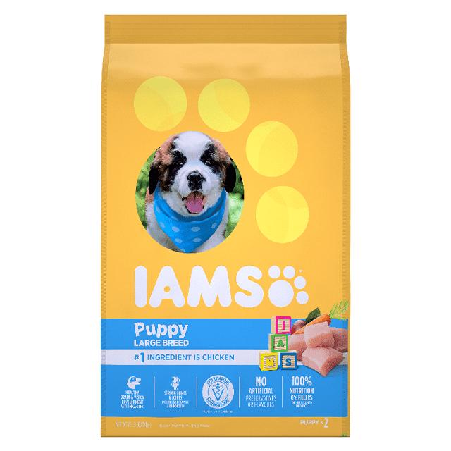 Nourriture sèche pour chiots de grande race Smart Puppy Recette avec poulet et grains entiers