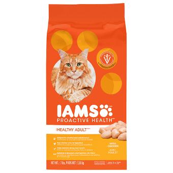 Nourriture sèche pour chats Chat adulte en santé avec poulet