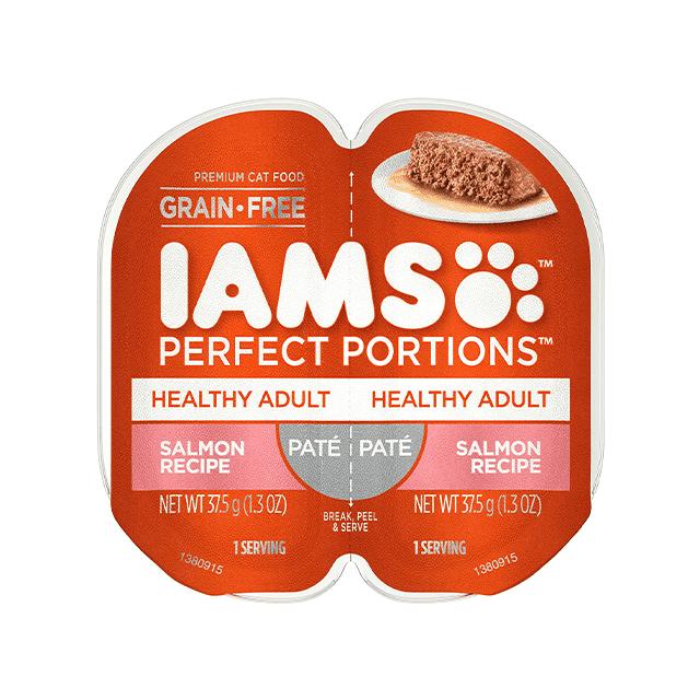 Nourriture humide pour chats adultes Healthy Adult Pâté recette au saumon