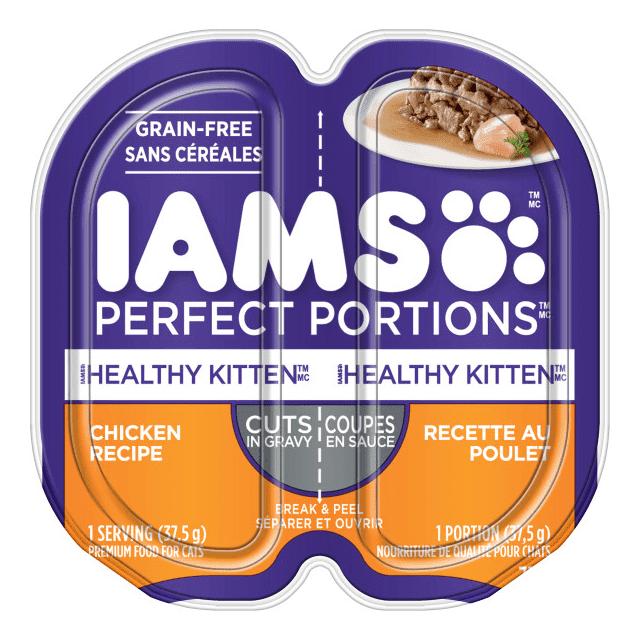 Nourriture humide pour chatons Healthy Kitten Coupes en sauce recette au poulet