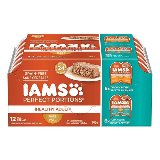 Nourriture humide pour chats adultes Healthy Adult Pâté recette au poulet et recette au thon en multi-emballage de 12 unités