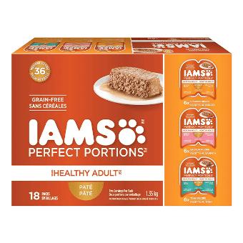 Nourriture humide pour chats adultes Healthy Adult Pâté recette au poulet, recette au saumon et recette au thon en multi-emballage de 18 unités