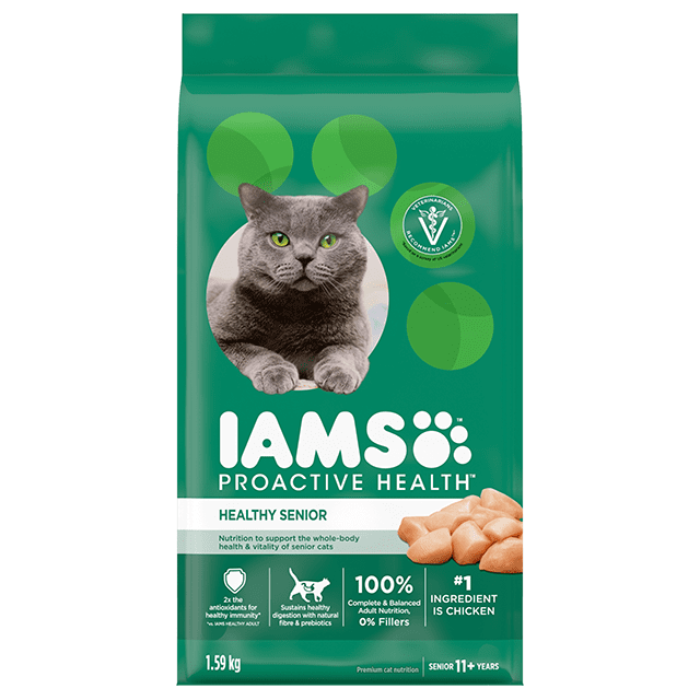 Healthy Senior Dry Cat Food with Chicken