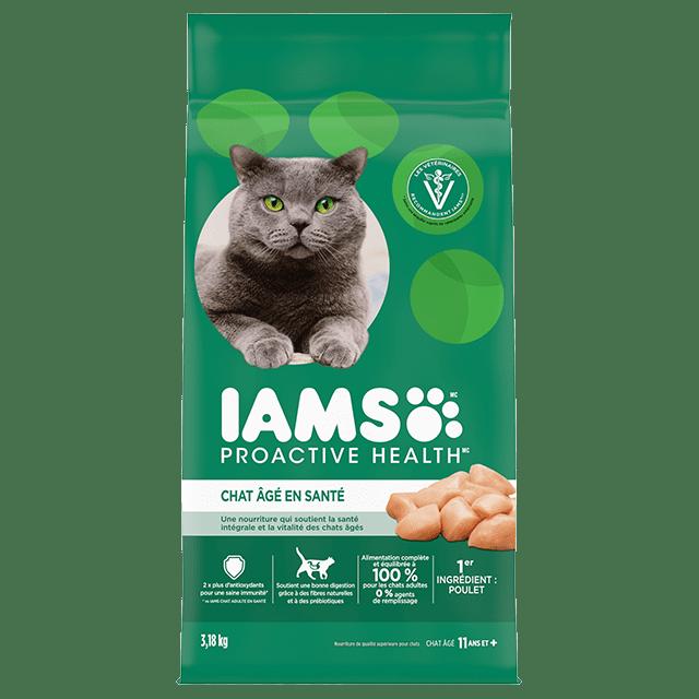 Nourriture sèche pour chats âgés Healthy Senior avec poulet