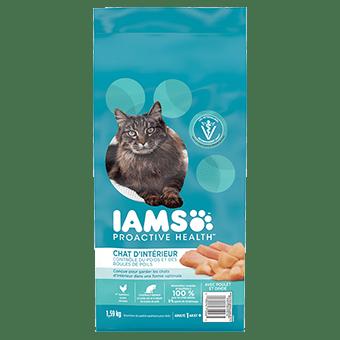 Nourriture sèche pour chats adultes d'intérieur Indoor Weight & Hairball Care avec poulet et dinde