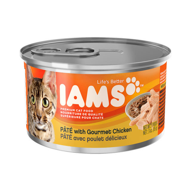 WITH GOURMET CHICKEN CAT FOOD