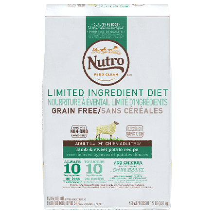 Grain Free Adult Lamb & Sweet Potato Recipe