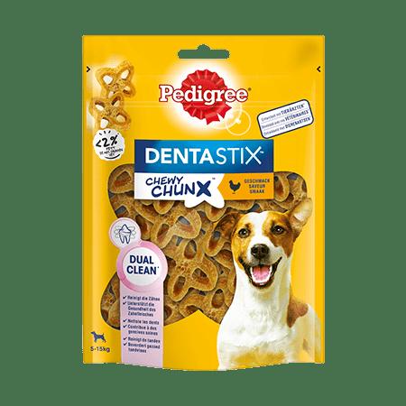 PEDIGREE® DENTASTIX™ Chewy Chunx™ Mini 5-15kg mit Huhn 5 x 68g