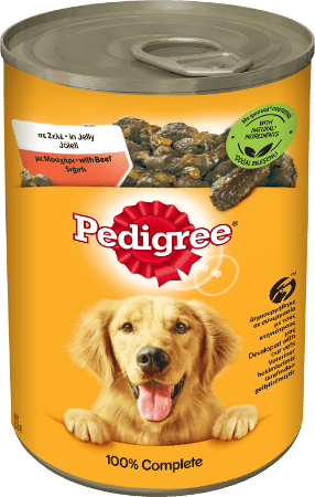 PEDIGREE® Πλήρης Υγρή Τροφή σε Κονσέρβα Μοσχάρι 400g