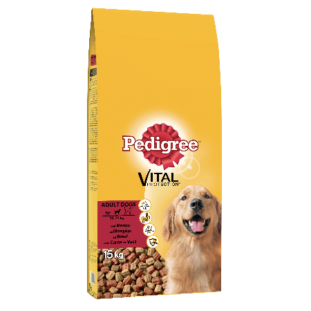 PEDIGREE® Πλήρης Ξηρή Τροφή Μοσχάρι & Λαχανικά 15kg