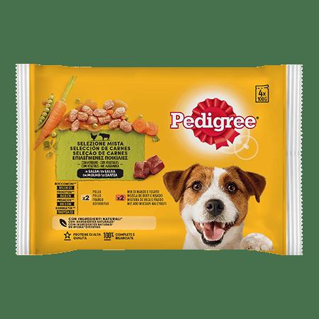 PEDIGREE® Πλήρης Υγρή Τροφή σε Φακελάκι Μοσχάρι,Κοτόπουλο & Λαχανικά σε Σάλτσα Πολυσυσκευασία 4Χ100g