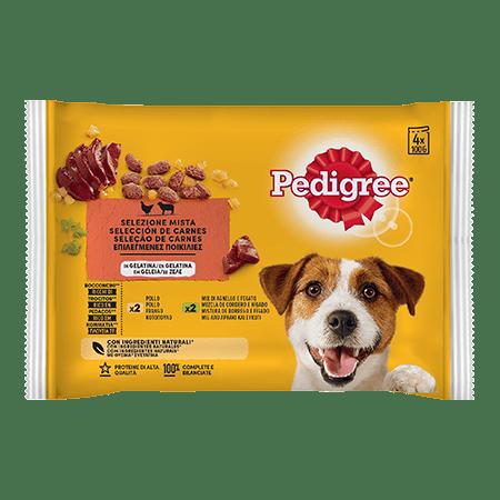 PEDIGREE® Πλήρης Υγρή Τροφή σε Φακελάκι Κοτόπουλο & Αρνί σε Ζελέ Πολυσυσκευασία 4Χ100g