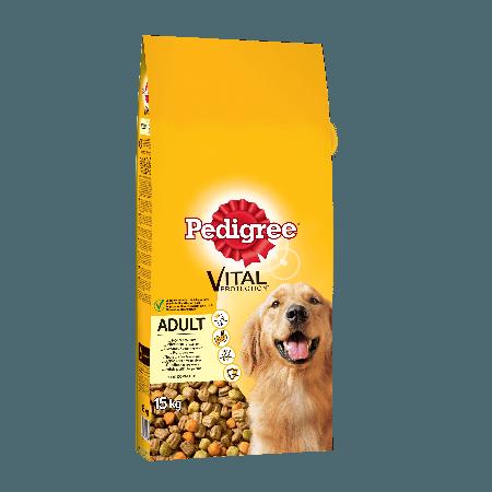 PEDIGREE® Πλήρης Ξηρή Τροφή Κοτόπουλο & Λαχανικά 15kg