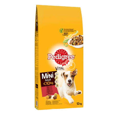PEDIGREE® Πλήρης Ξηρή Τροφή για Μικρόσωμους Σκύλους Mοσχάρι 12Kg