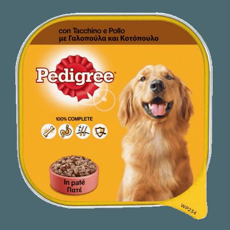 PEDIGREE® Πλήρης Υγρή Τροφή σε Δισκάκι Γαλοπούλα & Κοτόπουλο 300g