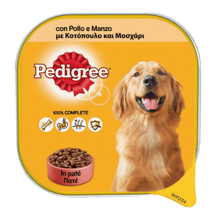 PEDIGREE® Πλήρης Υγρή Τροφή σε Δισκάκι Κοτόπουλο & Μοσχάρι 300g