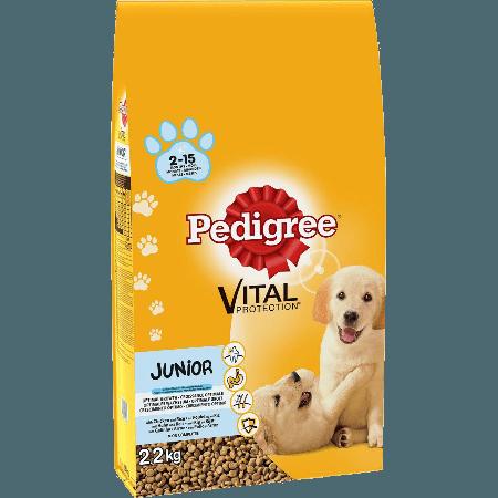 PEDIGREE® Πλήρης Ξηρή Τροφή για Κουτάβια Junior Κοτόπουλο & Ρύζι 2.2kg