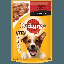PEDIGREE® Πλήρης Υγρή Τροφή σε Φακελάκι Μοσχάρι & Αρνάκι σε Σάλτσα 100g