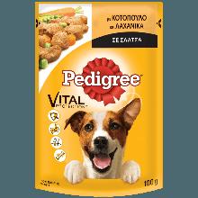 PEDIGREE® Πλήρης Υγρή Τροφή σε Φακελάκι Κοτόπουλο & Λαχανικά σε Σάλτσα 100g