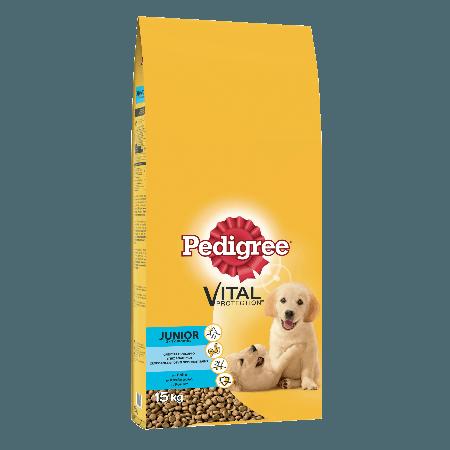 PEDIGREE® Πλήρης Ξηρή Τροφή για Κουτάβια Junior Κοτόπουλο 15kg