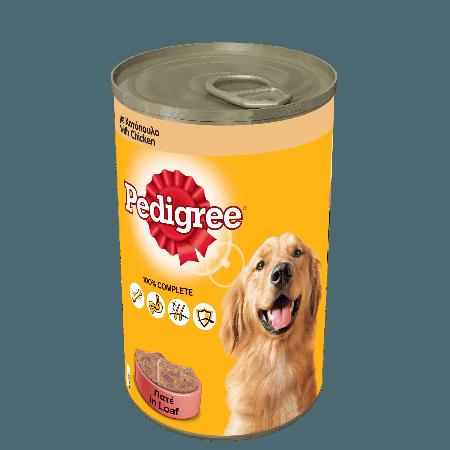 PEDIGREE® Πλήρης Υγρή Τροφή σε Κονσέρβα Κοτόπουλο 1230g