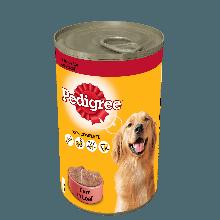 PEDIGREE® Πλήρης Υγρή Τροφή σε Κονσέρβα Μοσχάρι 1230g