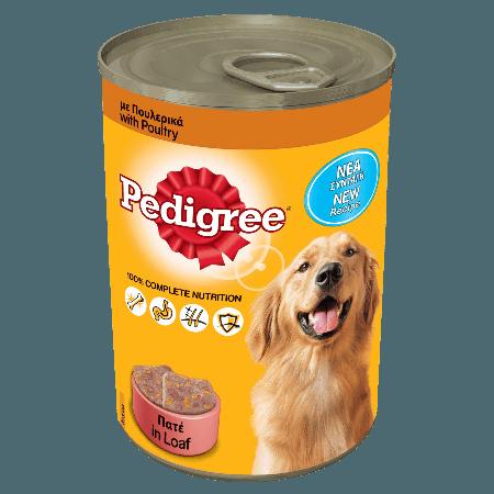 PEDIGREE® Πλήρης Υγρή Τροφή σε Κονσέρβα 3 Ποικιλίες Πουλερικών 400g