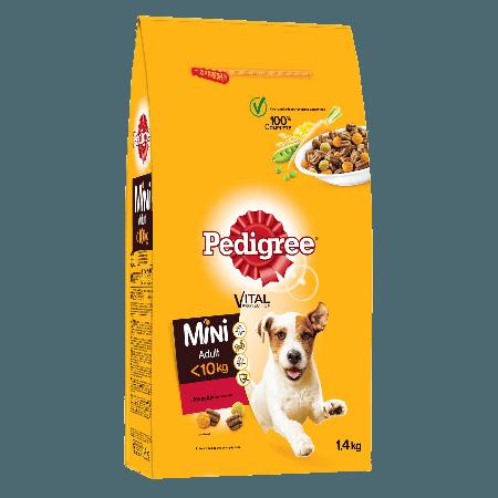 PEDIGREE® Πλήρης Ξηρή Τροφή για Μικρόσωμους Σκύλους Mini Μοσχάρι & Λαχανικά 1.4kg