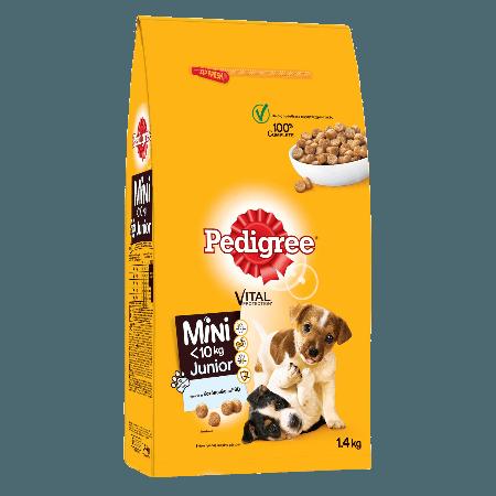 PEDIGREE® Πλήρης Ξηρή Τροφή για Μικρόσωμα Κουτάβια Junior Πλούσια σε Κοτόπουλο και Ρύζι 1.4kg