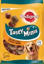 PEDIGREE®Tasty Bites Chewy Cubes με Κοτόπουλο και Πάπια 130g