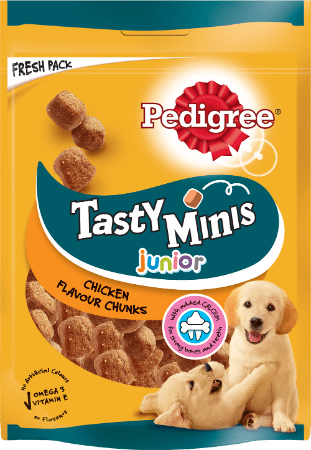 PEDIGREE®Tasty Minis Chewy Cubes για Κουτάβια με Κοτόπουλο 125g