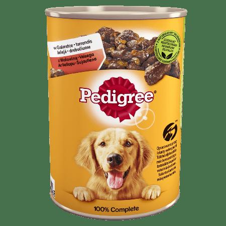 PEDIGREE® Adult puszka 400g - mokra karma dla psów z wołowiną w galaretce