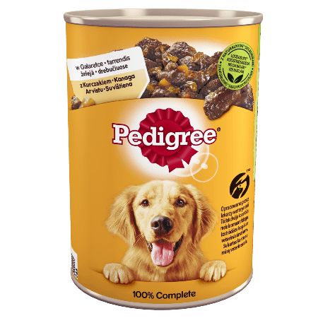 PEDIGREE® Adult puszka 400g - mokra karma dla psów z kurczakiem i marchewką w galaretce