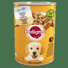 PEDIGREE® Junior puszka 400g - mokra karma dla psów z kurczakiem w galaretce