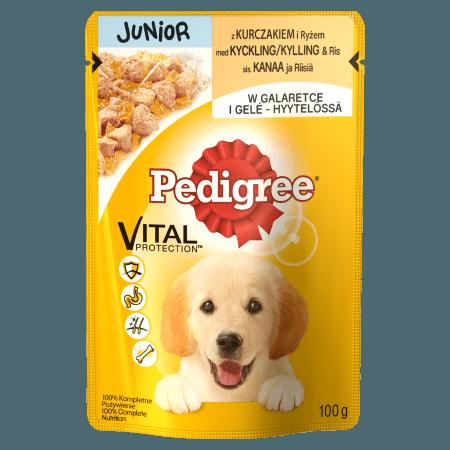 PEDIGREE® Junior z Kurczakiem i Ryżem. 100g