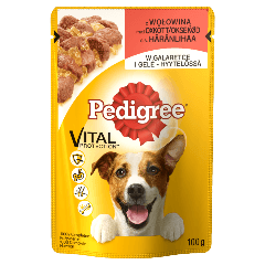 PEDIGREE® Vital Protection z Wołowiną w Galaretce dla dorosłych psów. 100g