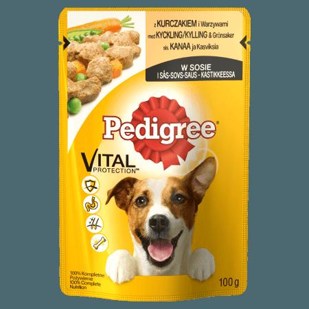 PEDIGREE® Vital Protection z Kurczakiem i Warzywami w Sosie dla dorosłych psów. 100g