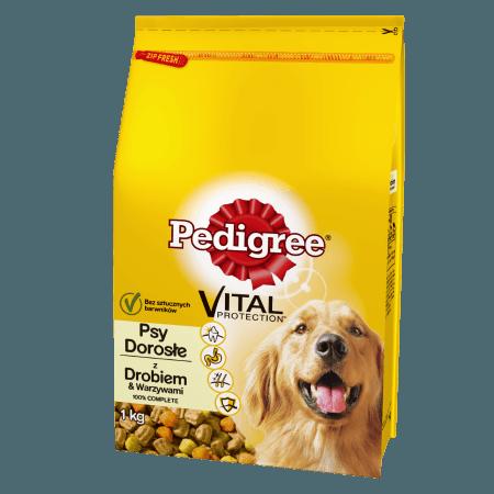 PEDIGREE® Vital Protection z Drobiem i Warzywami dla dorosłych psów. 1kg