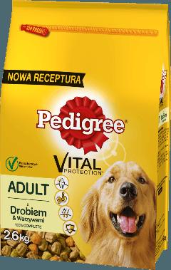 PEDIGREE® Vital Protection z Drobiem i Warzywami dla dorosłych psów. 2,6kg