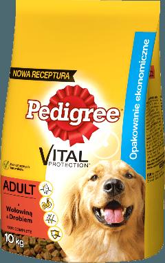PEDIGREE® Vital Protection™ z Wołowiną i Drobiem dla dorosłych psów. 10kg