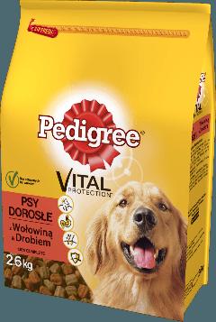 PEDIGREE® Vital Protection z Wołowiną i Drobiem dla dorosłych psów. 2,6kg