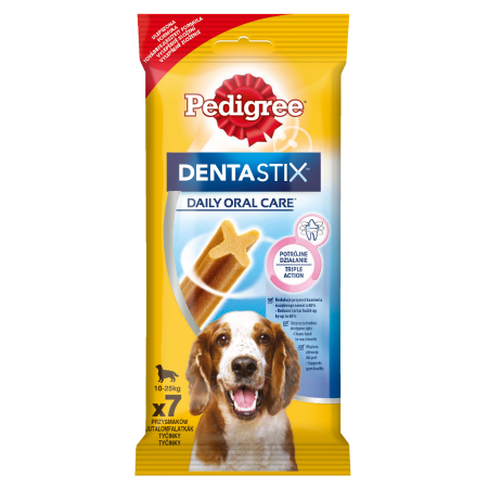 PEDIGREE® DentaStix Codzienna Pielęgnacja Jamy Ustnej, średnie rasy 7x