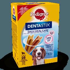 PEDIGREE® DentaStix<sup>TM</sup> Codzienna Pielęgnacja Jamy Ustnej, średnie rasy 28x