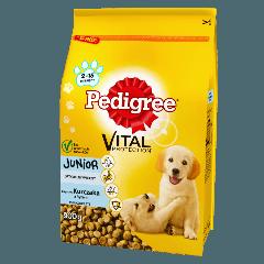 PEDIGREE® Vital Protection™ Junior Bogaty w Kurczaka, z Ryżem dla szczeniąt średnich ras. 900g.