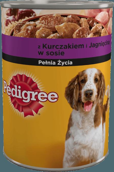 PEDIGREE® Pełnia Życia z Kurczakiem i Jagnięciną w sosie, dla dorosłych psów