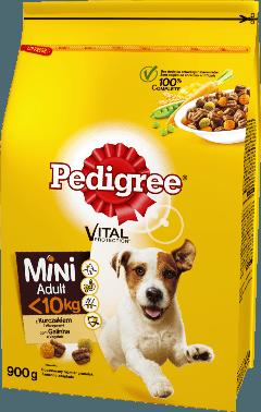 PEDIGREE® Mini Vital Protection™ z Kurczakiem i Warzywami, dla dorosłych psów małych ras. 900g