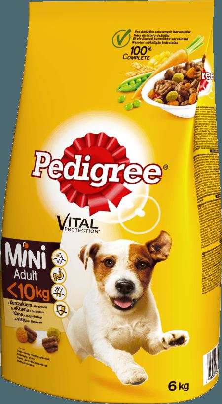 PEDIGREE® Vital Protection™ z Kurczakiem i Warzywami, dla dorosłych psów małych ras. 6kg