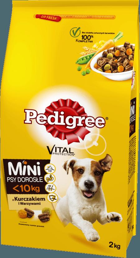 PEDIGREE® Vital Protection z Kurczakiem i Warzywami, dla dorosłych psów małych ras. 2kg